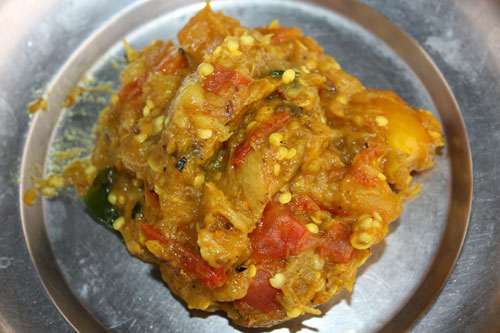 Baingan Bharta Recipe - Mashed Eggplant - 30 Jun 12