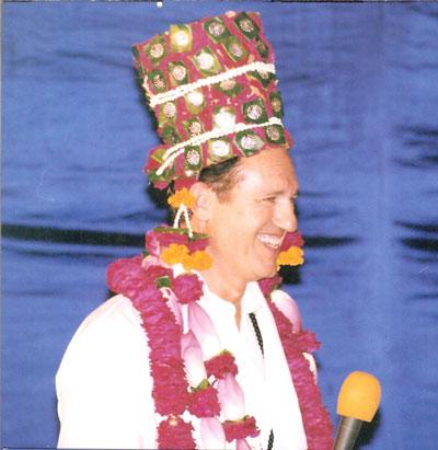 My friend's 50th Birthday Celebration at the Ashram in India - 2 Sep 12
