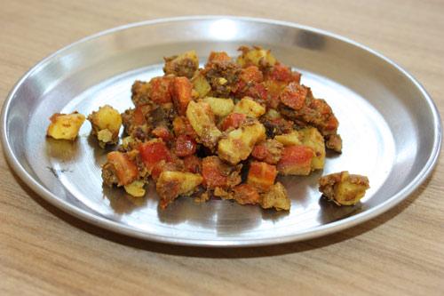 Ayurvedisches Alu Gajar - Rezept für Kartoffeln mit Karotten - 14 Dez 12