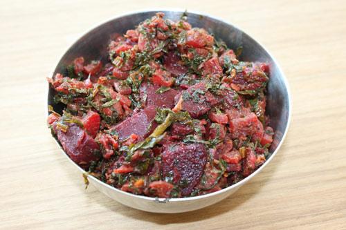 Mooli Chukandar Bhaji Recipe - Ayurvedic Radish and Beetroot Vegetable Dish - 29 Dec 12