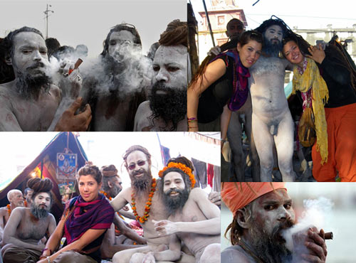 Naga Sadhus - Concept of Detachment or showing off Genitals and taking Drugs - 29 Jan 13