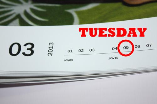 God likes saving you on Tuesdays - Superstitious Nonsense - 5 Mar 13