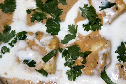 Weißer Shahi Paneer - Rezept für königlichen, indischen Käse in weißer Soße - 1 Jun 13