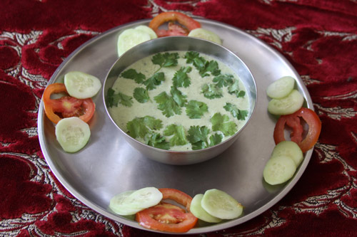 Pudina Raita - cooling Mint-Yoghurt-Dip for hot summers - 15 Jun 13