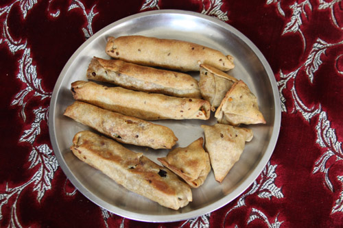 Ayurvedic Samosas and Rolls - Recipe for a healthy Alternative without deep-frying - 5 Oct 13