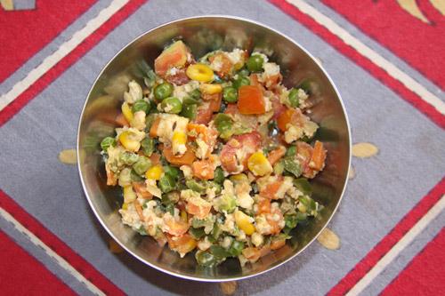 Gemüse-Paneer-Mix - Rezept für ein leckeres Gemüsegericht oder einen Salat - 19 Oct 13