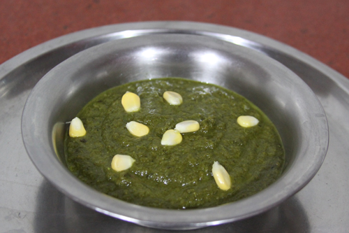 Sarson da Saag - Recipe for Mustard Greens Vegetable Dish - 4 Jan 14