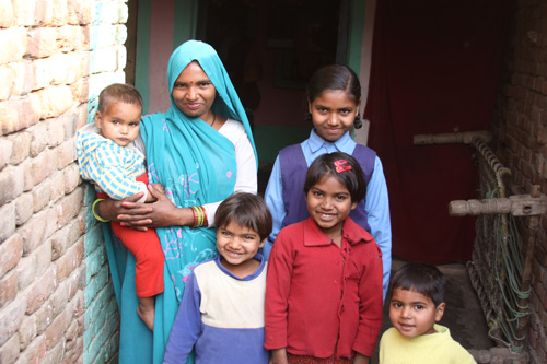 A joyful Family of eight without Money - Our School Children - 14 Feb 14