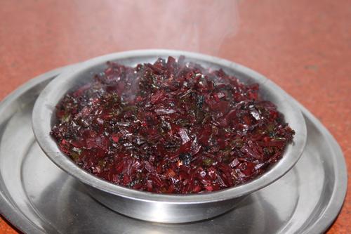 Chukandar ki Bhujiya - Rezept für ein leckeres Gemüsegericht aus roter Beete - 22 Feb 14