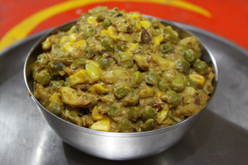 Recipe for mixed Vegetables with Jackfruit Seeds - 22 Mar 14