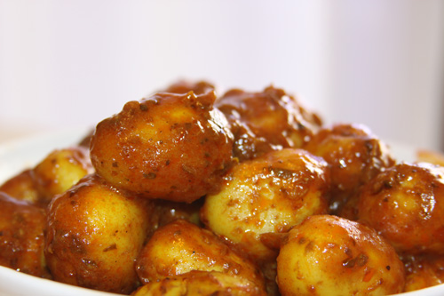 Tomater Dum Aloo - Canarian Potatoes in Indian Style - 21 Jun 14