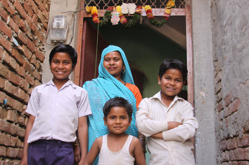 A poor Family with enough Space - but only temporarily - Our School Children - 27 Jun 14