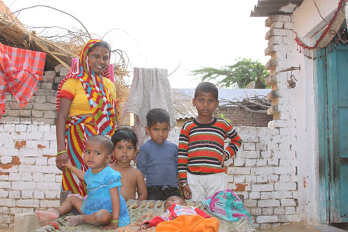 A Family of seven living in one Room - Our School Children - 22 Aug 14