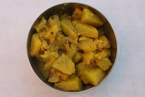 Kaddu ki Sabzi - Rezept für ein einfaches und doch leckeres Kürbisgericht - 13 Sep 14