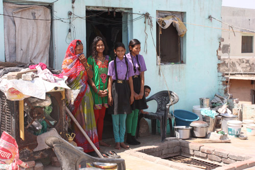 Six Persons in a hot Room on the Roof - Our School Children - 10 Apr 15