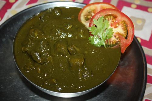Gobhi Palak - Rezept für Blumenkohl mit Spinat - 23 Mai 15