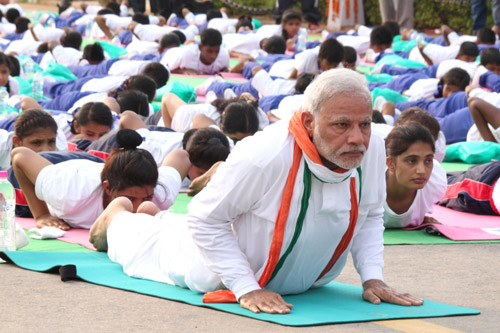 International Yoga Day in India - Mats from China and Money to Yoga Business Tycoons - 21 Jun 15
