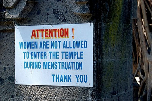 Western Women married in India: do you follow 'Indian Menstruation Rules'? – 30 Jun 15
