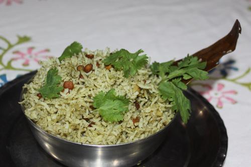 Pudina Dhania Chawal - Mint Coriander Rice - 25 Jul 15