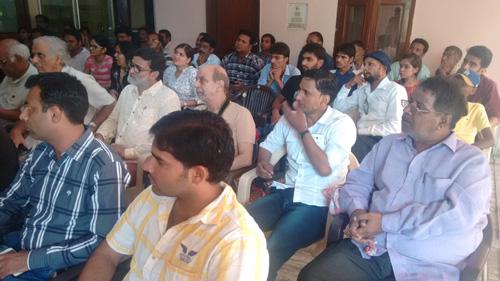 Atheist Meeting at our Ashram in Vrindavan - 26 Jul 15
