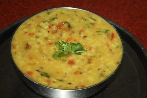 Moong Masoor Dal - Recipe for Moong Beans with Red Lentils - 15 Aug 15