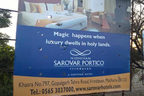 Göttliches Marketing – Werbung auf dem heiligen Boden Vrindavans – 13 Sep 15