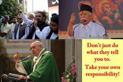 Dein Leben, deine Entscheidungen – lass Religion dir nicht vorschreiben, was du tun sollst! – 17 Sep 15