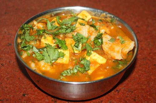 Gobhi Paneer - Rezept für Blumenkohl mit frischem indischen Käse - 28 Nov 15