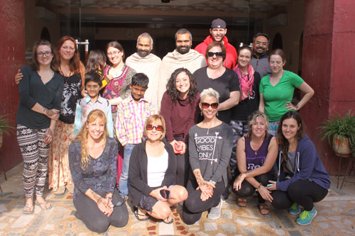We love connecting deeply - a Canadian Yoga Group at our Ashram - 13 Dec 15
