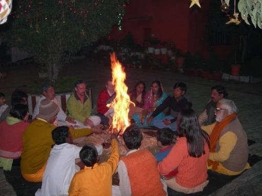 New Year Celebration at the Ashram in India - 1 Jan 09