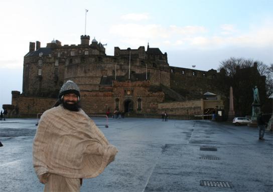 Exploring cold and windy Edinburgh – 10 Jan 09