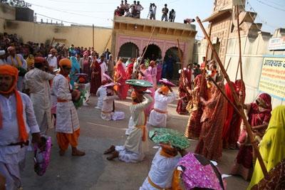 Traditional Holi Celebration in Vrindavan - 19 Mar 08