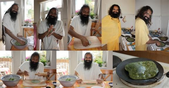Delicious Indian Vegetarian Recipes - Palak Paratha - 10 Jul 09