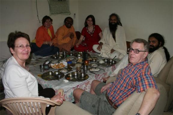 Im Ashram in India angekommen - 18 Feb 09