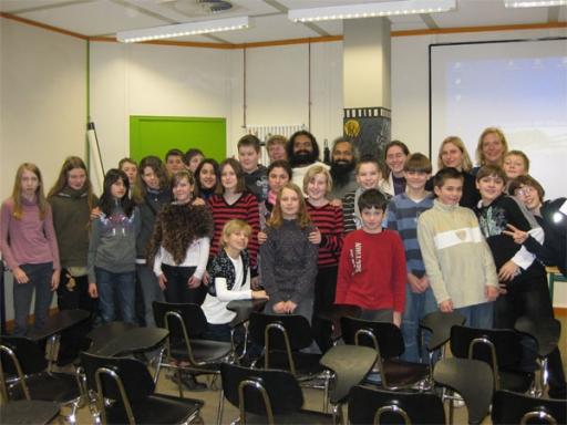 Deutschen Kindern in Schule etwas Indien zeigen - 4 Feb 09