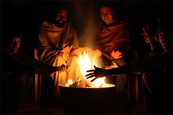 Keine Elektrizität und kein Internet - ein Wintertag im Ashram - 25 Nov 09