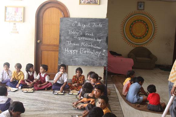 Sponsors Celebrating their Birthdays at the Ashram in India - 6 Aug 10