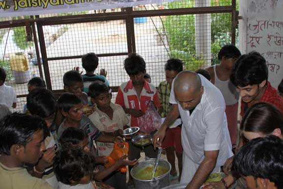 Food Camp in Flood Affected Area - 31 Aug 10