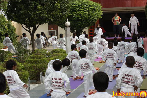 I Found my Heart in Vrindavan - Yoga Classes for Children - 18 Oct 10
