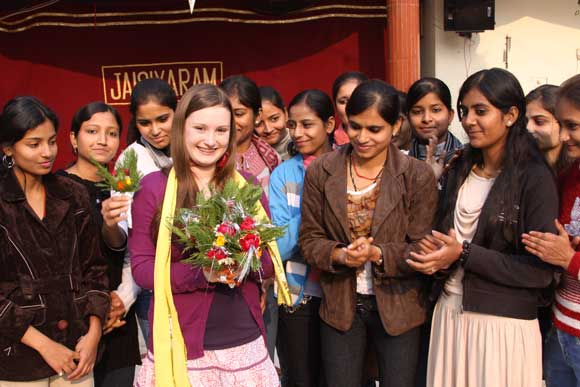 Birthday Celebration of Sophie at the Ashram in India - 27 Dec 10