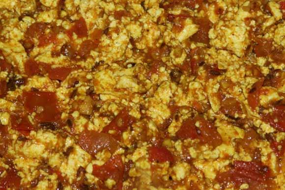 Rezept für Paneer und Ayurvedisches Paneer Bhurji mit Tomaten - 5 Mar 11
