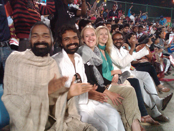 Enjoying Cricket Matches - The Second Religion of India - 10 Mar 11