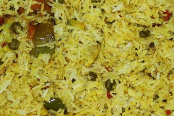 Ayurvedic Vegetable Biryani Recipe - Pulao - Rice and Vegetable - 12 Mar 11