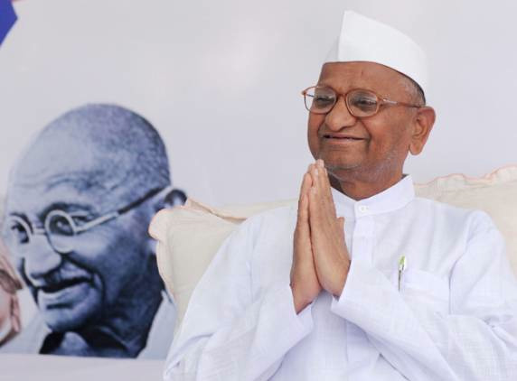 Anna Hazare fights Corruption like Gandhi fought the British - 8 Apr 11