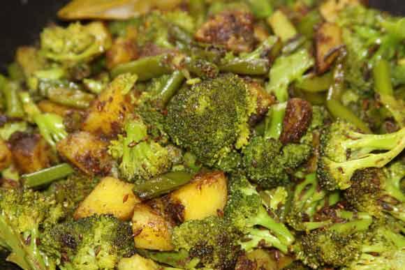 Broccoli and Potato - Healthy Ayurvedic Recipe Online - 28 May 11