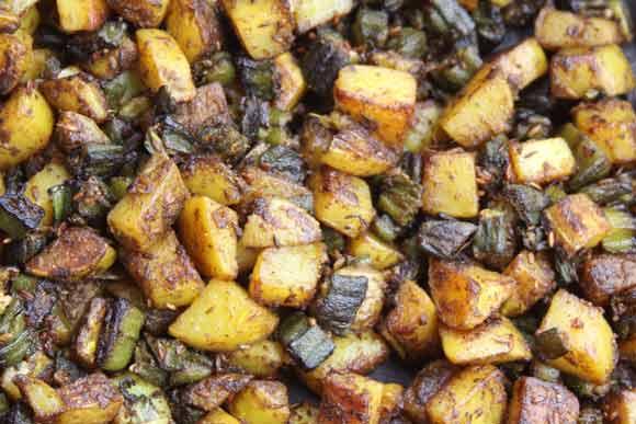 Aloo Bhindi - Rezept für Ayurvedische Kartoffeln mit Okra - 2 Jul 11