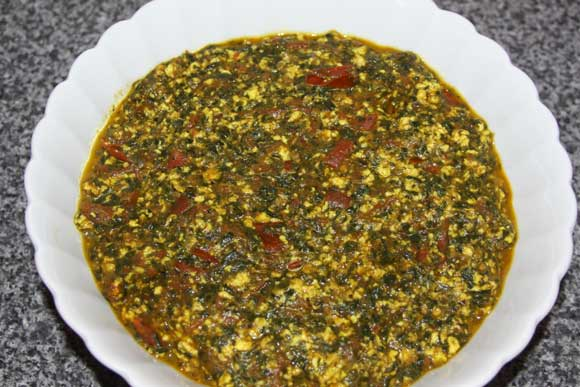 Palak Paneer with Tomatoes - Ayurvedic Recipe for Spinach with Cheese and Tomatoes - 13 Aug 11